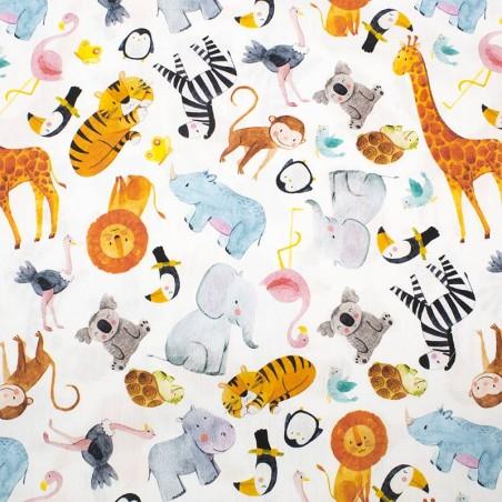 Tessuto cotone the zoo