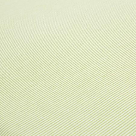 Tessuto cotone micro righe verde