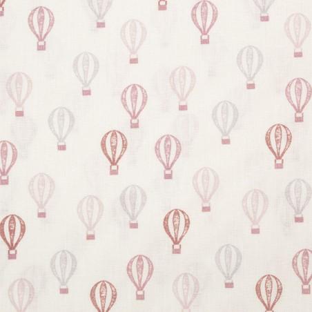 Tessuto cotone mongolfiere - rosa