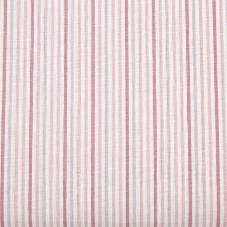 Tessuto cotone righine - rosa