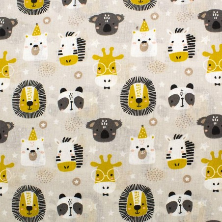 Tessuto cotone Party Animals