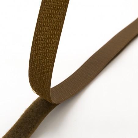 Velcro marroncino 20 mm