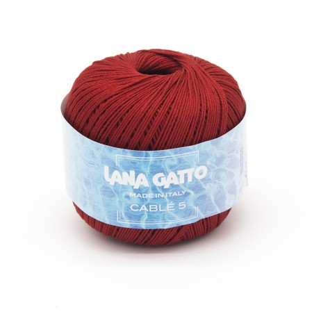 Cotone Cablé 5/8 - Rosso scuro