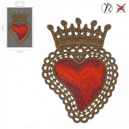 Patch cuore corona