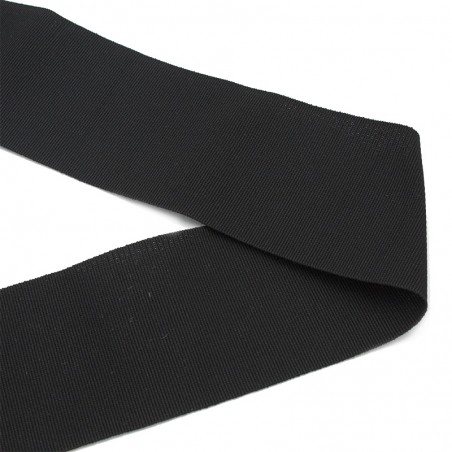Gros-grain cotone nero