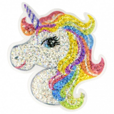 Patch unicorno paillettes