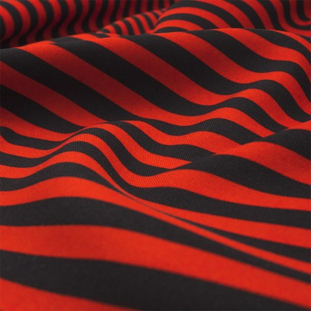 Tessuto righe rosso nero