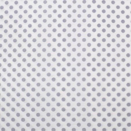 Tessuto piquet pois bianco