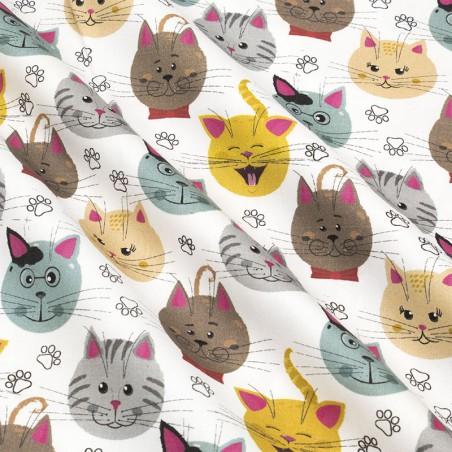 Tessuto cotone cats