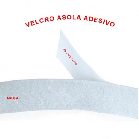 Velcro asola adesivo bianco