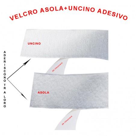 Velcro asola+uncino adesivo