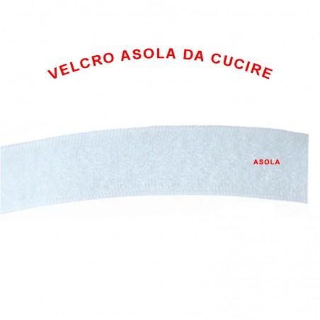 Velcro asola da cucire bianco